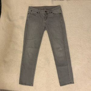 Talbots Skinny Ankle Jeans, Gray/Silver